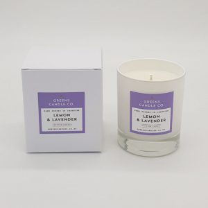 Lemon and Lavender Scented Candle