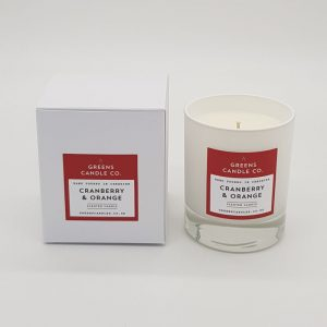 Cranberry & Orange Scented Candle