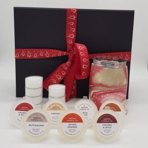 Greens Candles Wax Melter Gift Set Red Gold