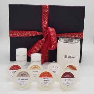 Greens Candles Wax Melter Gift Set White